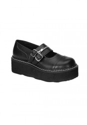 2 Inch Double Strap Platform Mary Jane Shoes