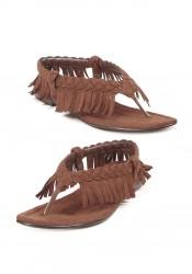 Women's Gladiator Flat Sandal With Fringe