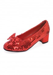Childrens 1 inch Heel Ruby Slippers