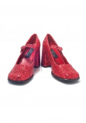 3 Inch Heel Mary Jane Women'S Size Shoe With Glitter