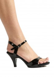 3 Inch Heel Sandal Women'S Size Shoe With Ankle Strap