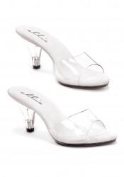 3 Inch Heel Clear Mule Women'S Size Shoe