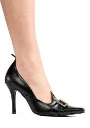 3.5 Inch Witch Pump Women'S Size Shoe With Buckle Detail