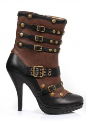4 Inch Steam Punk Bootie