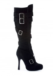 4 Inch Microfiber Knee High Boot With Buckles