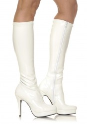4 Inch Knee High Boots Women'S Size Shoe With Zipper