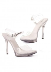 5 Inch Heel Clear Sandal Women'S Size Shoe With Ankle Strap