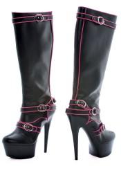 "Fame 6"" Contrast Trim Platform Boots"