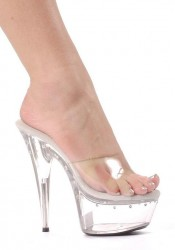 6 Inch Pointed Stiletto Heel Women'S Size Shoe With Rhinestones On Platform