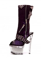 """Zoe 6"""" Textured Platform Studded Boots"""