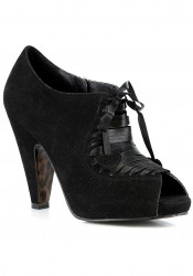 3 Inch Black Shoe With Laces