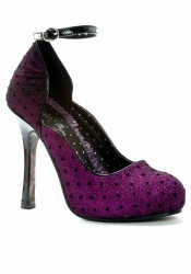 4 Inch Heel Close Toe Pump
