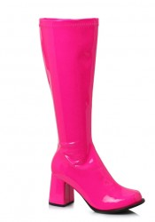 3 Inch Gogo Boots Neon With Zipper
