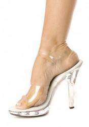 5 Inch Heel Clear Sandal Women'S Size Shoe