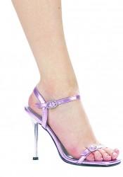 4 Inch Heel Sandal Women'S Size Shoe With Rhinestone Buckle Detail