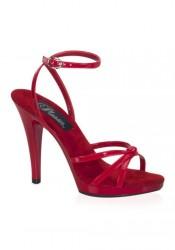 4 1/2 Inch Stiletto Heel Strappy Ankle Wrap Platform Sandal
