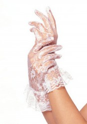 Lace Ruffle Gloves