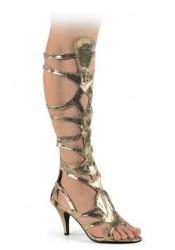 Snake Skin Pu Egyptian Sandal, 3 1/2 Inch