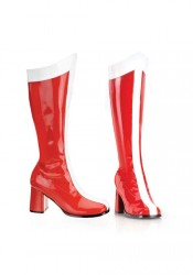 3 Inch Block Heel Wonder Woman Boot, Side Zipper