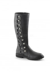 1 1/2 Inch Flat Heel Men's Knee High Boot
