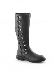 1 1/2 Inch Flat Heel Men's Knee High Boot