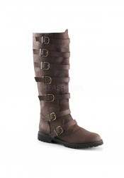 1 1/2 Inch Flat Heel Men's Pull-On Knee High Boot