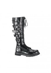 Men's/Unisex 20 Eyelet 5 Strap Steel Toe Knee Boot