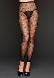 Bow Lace Footless Tights