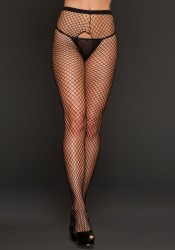 Fishnet Crotchless Pantyhose
