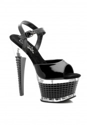 Women's 6 1/2 Inch Textured Platform Sandal With Ankle Strap