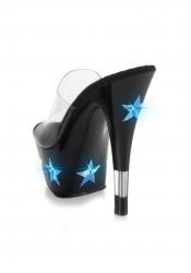 6 Inch Stiletto Heel Platform Slide With 'Star' Lights