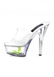 6 Inch Stiletto Heel Platform Slide With Truckgirl