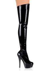 6 Inch Stiletto Heel Platform Thigh Boot
