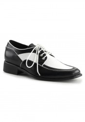 1 Inch Flat Heel, Men's Spectator Oxford Shoe