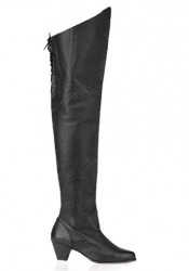 2 Inch Heel Thigh High Pig Le Boot