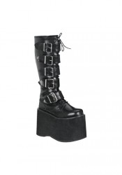 Men's/Unisex 5 3/4 Inch 5 Buckle Platform Knee Boot