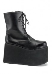 Mens Lace Up Front Platform Ankle Boot, 5 Inch
