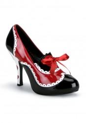 Women's 4 Inch Heel Platform Pumpwith Bow Detail