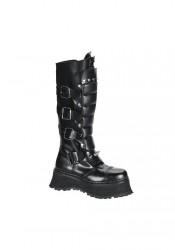 Men's/Unisex Buckled Steel Toe Warrior Boots