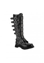 Men's/Unisex 30 Eyelet Metal Plates Steel Toe Knee Boot