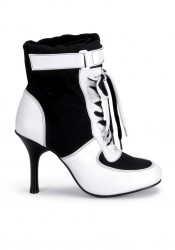 Women's 3 3/4 Inch Heel Lace-Up Sport Boot With Velcro Strap