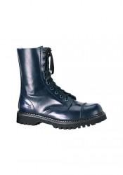 Men's/Unisex 10 Eyelet Steel Toe Calf Boots