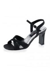 3 1/4 Inch Square Heel Ankle Strap Sandal