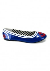 Women's Junior'S Sailor Print Flats