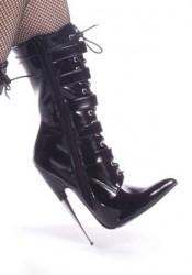 6 Inch Metal Heel Ankle Hi Boots