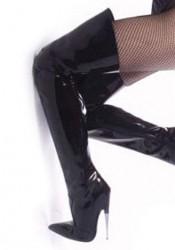 6 Inch Metal Heel Thigh Hi Boots