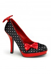 Pinup Couture SECRET-12, 4 1/2 Inch Platform Pump With Clip-On Bows