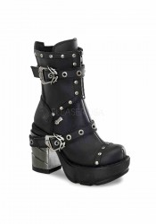 3 1/2 Inch Chromed ABS Heel, 1 1/2 Inch Moulded Pu Platform Boot