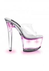 6 3/4 Inch Stiletto Heel Lite-Up Platform Slide