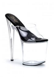 Women's 8 Inch Heel No Slip Platform Slide With 'O' Shaped Heel